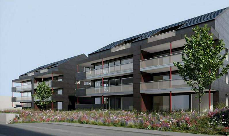 komfortable-eigentumswohnungen-kaufen-ostschweiz-thurgau-bodensee-region-zuerich-st-gallen Aussenansicht Gartenstrasse 11 und 13 Nähe Bodensee in Sulgen-web
